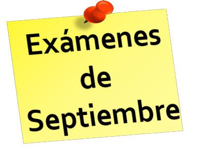 Exámenes de setiembre Ciclos Formativos